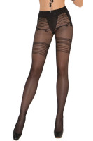 Faux Lace Up Sheer Pantyhose L92249