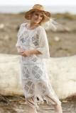 Sexy Bohemian Crochet Hollow-out Beachwear Dress L38305