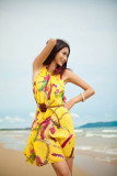 Bohemian chiffon beach dress  L3811