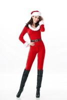 Round Neck Christmas Jumpsuit L70959