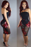 See-Through Sequines Dress L28134-2
