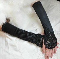 Beaded Satin Gloves TY022-2