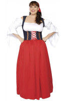 Plus Size German Beer Girl Wench Costume P1102