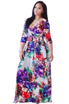 Printed Slim Maxi Dress L51382