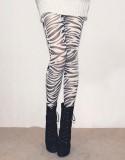 Zebra Print Pantyhose L9034
