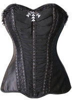 Vintage Strapless Lace-Up Slimming Ruched Corset L42682-2