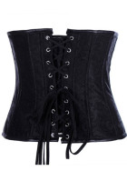 Front zipper Black Leather  Sexy Corset  L4244
