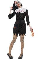 Carnival Deluxe Babe Nun Vampire Fancy Dress