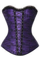 Vintage Strapless Slimming Lace-Up Corset L42656-5