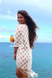Cotton Lace Tassel Sunscreen Dress L38405