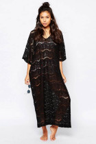 Crochet Oversized Beach Maxi Dress L51283-1