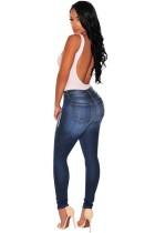Denim Ripped Knee Skinny Jeans L555