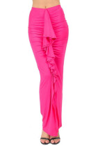 New Womens Fashion Style Ruffle Up Body Ruched Maxi Skirt L394-1