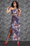 New Coming Long Gown Blue L5055-4