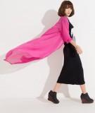 chiffon shirt sunscreen hollow cardigan -pink L3774-4