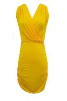 Sleeveless Yellow Minidress L2534-1