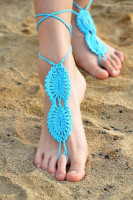 Blue Beach Fashion Crochet Barefoot Sandals L98002-3