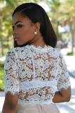 Maja White Floral Eyelet Luxe Crop Top L468-1