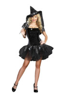 Black Sexy  Witch Costume L15276