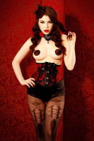 Round and Black Bow Nipple Covers L9735