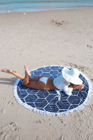 New Lennox Round BeachTowel with Fringe 155cm L38353