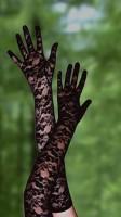 Black Lace Gloves TY026-2