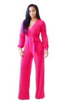 Belted Long Sleeves Jumpsuit L55283-2
