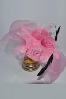 Pink Hair Clip With Feather and Flower TY904-5