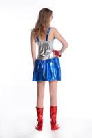 New Girl Superman Captain Uniform L15341