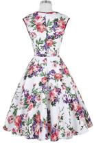 Vintage Flower Skater Dress L36115-2