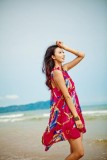 Bohemian chiffon beach dress  L3814