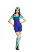 Ladies Super Mario Luigi Costume