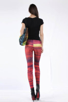 Multicolored Fancy Galaxy Leggings L8724