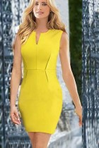Elegant Ladies V-Neck Celebrity Pencil Dress L36025
