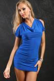Sexy Halter Dress Blue  L2290-2