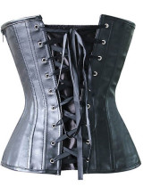 Sexy Faux Leather Boned Over Bust Corset L42696