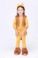 Courage Lion Child Girls Cute Halloween Costume L15285