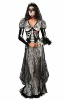 Super Deluxe Bone Yard Bride Costume L15483