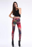 Multicolored Fancy Galaxy Leggings L8745