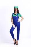 Super Mario Women Siamese Plumber Costumes