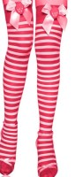 Red-White Stripe thigh highs L9019-2