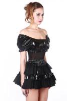 Black PVC Skirt Set L6070
