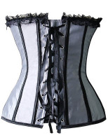 Vintage Strapless Lace-Up Slimming Ruched Corset L42682-3