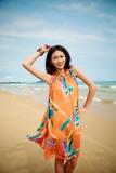 Bohemian chiffon beach dress  L3813