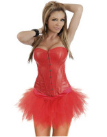 Sexy PU Corset With Skirt L6003-1