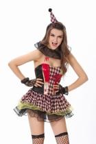 Zombie Circus Clown Costume L15106