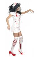 Sexy Zombie Nurse Medical Scrubs Halloween Costume