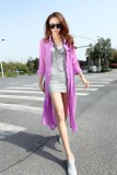 chiffon shirt sunscreen hollow cardigan -purple L3774-3