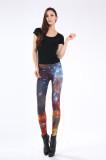 Multicolored Fancy Galaxy Leggings L8721