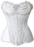 Vintage Strapless Lace-Up Slimming Ruched Corset L42682-1